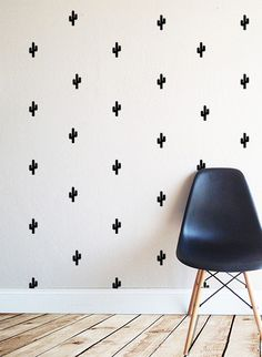 Tiny Cactus Wall Decal. So cute.    (more information more cactus)