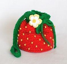 Resultado de imagem para bolsa melancia croche