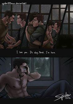Derek is confused about his feelings for Stiles before Sterek happens Yesss!♡\( ̄▽ ̄)/♡