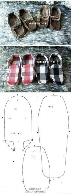 Aprende cómo hacer tus propias pantuflas siguiendo este paso a paso. Otro diseño de pantuflas fácil de realizar. Fuente: Pinterest