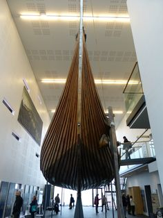 The Víkingaheimar museum's main exhibition piece is the 23 metre long reconstructed Viking ship named Íslendingur. The life-size replica of the famous Gokstad ship was built by Gunnar Marel Eggertsson, who sailed it from Iceland to New York in the year 2000 to commemorate Leifur Eiríksson's journey to the New World a thousand years earlier.