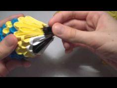 3D origami mini minion - YouTube