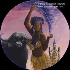 Oya~ Goddess of Strong winds and transformation~Gate keeper of grave yards, the dead and the cross roads. Her colors are purple and her number is 9 West African Yoruba Orisha Oya Goddess, Mother Goddess, Goddess Art, Ancient Goddesses, Gods And Goddesses, Wicca, Magick, Goddess Meaning, Oya Orisha
