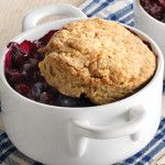 Blueberry Lime Cobbler with Cornmeal Biscuit Topping Recipe - Clean Eating