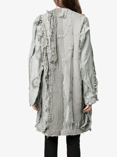 By Walid Century Embroidered Coat - Farfetch Quilted Clothes, By Walid, Recycled Denim, Boho Fashion, Fashion Design, Textiles, Mode Inspiration, 18th Century, Coats For Women