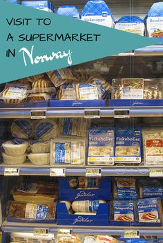 I know I'm not alone in my enjoyment of visiting foreign grocery stores and markets when I travel. Today I thought I'd take you on a little tour of a typical supermarket in Norway, which I visit once a week to buy our groceries