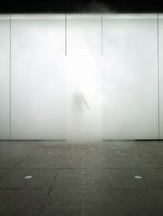 By Antony Gormley, this immersive installation used dense fog to disorientate and engage the viewers senses, often causing groups of people entering the space to loose one another.    'You enter this interior space that is the equivalent of being on top of a mountain or at the bottom of the sea. It is very important for me that inside it you find the outside. Also you become the immersed figure in an endless ground, literally the subject of the work.'