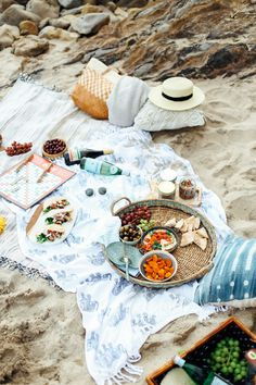 Mediterranean Inspired Beach Picnic