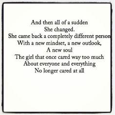 And then all of a sudden she changed #reinvention2013