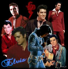 """( 2016 IN MEMORY OF ★ † ELVIS PRESLEY """" ♪♫♪♪ Rock & roll / pop / rockabilly / country / blues / gospel / rhythm & blues ) ★ † ♪♫♪♪ Elvis Aaron Presley - Tuesday, January 08, 1935 - 5' 11¾"""" - Tupelo, Mississippi, USA. Died; Tuesday, August 16, 1977 (aged of 42) Resting place Graceland, Memphis, Tennessee, USA. Cause of death: (cardiac arrhythmia)."""