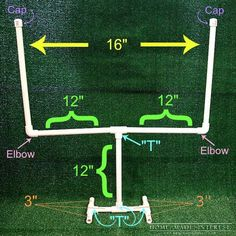 Are you planning on having a big super bowl party this year? Here is a SIMPLE tutorial on how to make a table football field goal as a simple game day decoration for your next football party! - Football Table - Ideas of Football Table Football Banquet, Table Football, Football Themes, Football Field, Football Season, Football Party Decorations, Football Decor, Football Awards, Football Parties