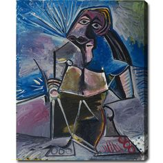 USA Pablo Picasso 'At Work' Oil on Art