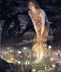 """Aine, Celtic Goddess of Faeries (ELVES,, leprauchans, imps) etc. and Fertility ~ Cute, charming, appealing, just what you'd expect from the """"angel of light"""" (Satan). 2 Corinthians 11:14; 2 Corinthians 4:4 (who blinds """"the MINDS"""" of unbelievers)."""
