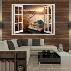 3D-WALL-ILLUSION-WALLPAPER-MURAL-PHOTO-PRINT-A-HOLE-IN-THE-WALL-OPTICAL-DESIGN