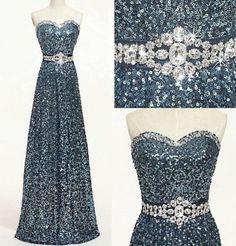 Charming Prom Dress,Sequin Prom Dress,Sweetheart Prom Dress,A-Line evening dresses prom dresses Jj Dresses, Sequin Prom Dresses, Pageant Dresses, Wedding Party Dresses, Pretty Dresses, Beautiful Dresses, Formal Dresses, Sequin Dress, Dresses 2014