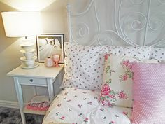 Girly floral bedroom weekend project.
