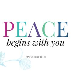 If we truly want peace on earth, we must accept and embrace every human being exactly as they are- starting with you.