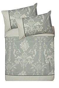 FILIGREE AND STRIPE DUVET COVER SET