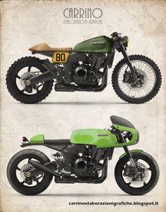 Carrino Elaborazioni Grafiche -Kawasaki Z1000 Cafe Racer #motorcycles…