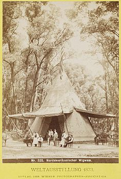 Josef Löwy, Northen American Wigwam at the Exhibition, Carpeaux, Dwarf Trees, Stone Lantern, Museum, Architectural Antiques, Beautiful Dream, Japanese House, World's Fair, The Visitors