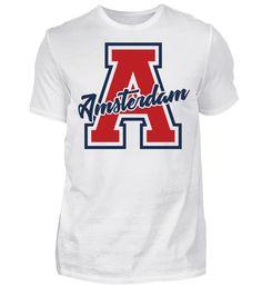 A wie Amsterdam - Holland - Netherlands - Gift Idea - Niederlande - Geschenk T-Shirt Amsterdam Holland, Sports, Gift, Fashion, Amsterdam Netherlands, Voyage, Timber Wood, Hs Sports, Moda