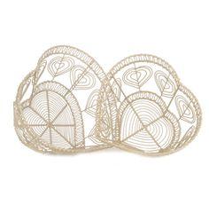 http://www.sassandbelle.co.uk/Vintage Wire Heart Baskets - Cream