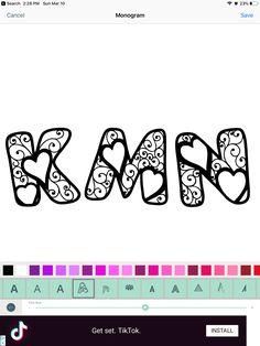 Initial Letters, Initials, Monogram, Monograms
