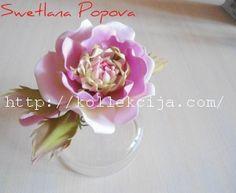 Как сделать цветок «Розовый щербет» из фоамирана. Мастер-класс Светланы Поповой.