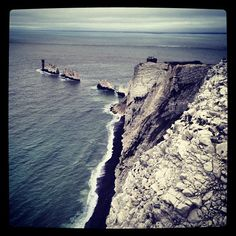 The Needles itt: Totland, Isle of Wight Chalk Rock, Out To Sea, Isle Of Wight, The Wiz, Great Britain, Four Square, Travel Ideas, Places Ive Been, Places To Visit