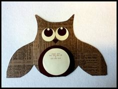 Owl Birthday & Thank You cards Handmade set 2 by malistah on Etsy, $10.00
