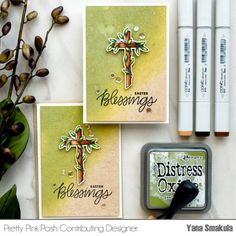 Easter Cards featuring Distress Oxide Ink Pads | Pretty Pink Posh