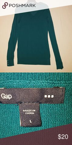 💕SALE💕 GAP V NECK SWEATER Long.... Buttons on the cuffs....Worn one time... true color is closer to pic 2.... Feel free to ask any questions like additional pics or measurements ✅Make an offer through OFFER button ONLY ✅Negotiations welcome ❌No trades ❌No PayPal ✴Bundles encouraged✴ GAP Sweaters V-Necks