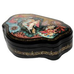 Russian Lacquer Art Gallery - Tale of a Hump-backed Horse - Artist:... ❤ liked on Polyvore featuring home, home decor, wall art, horse wall art and horse home decor