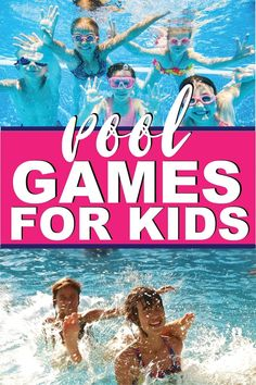 28 of the best pool games for teens, kids, or even for adults! Fun swimming pool games you can play without toys and ones you can DIY at home to play with a group at the pool! So many fun family friendly game ideas!