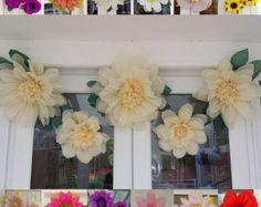 Set 5x Pompom Tissue paper flowers Wedding Venue decorations Party Centerpiece Birthday