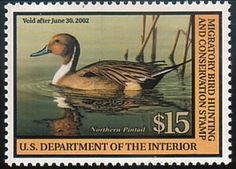 Federal Duck Stamp RW68 2001-02 Northern Pintail - TR Duck Stamps, Etc.
