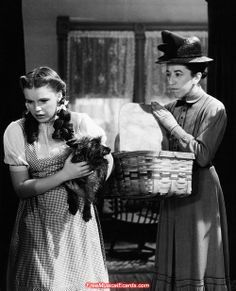 *DOROTHY, TOTO & MISS GULCH ~ The Wizard of Oz,  1939