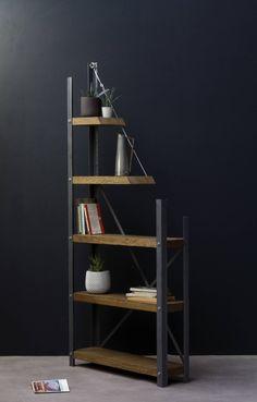 KONK De-constructed Oak/Steel Industrial Bookcase Bespoke