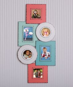 Stylishly sweet, this frame offers a charming way to display favorite photos while helping to create a comfy and cozy atmosphere full of memories. Elegantly overlapping, these connected frames can hold six different pictures!