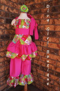 Girls Boutique Clothing Pageant Outfit Pillowcase Top Ruffle Pants Hair Flower Childrens Boutique Clothing 6m 12m 18m 2T 3T 4T 5 6 7 8 Girls Boutique, Boutique Clothing, Little Girl Closet, Nice Dresses, Girls Dresses, Pageant Wear, Girl Outfits, Fashion Outfits, Fashion Trends