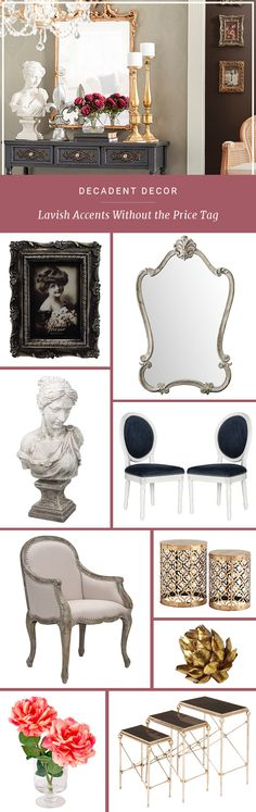 Furniture makes a room functional, but no space is complete without the personal touch that comes from adding in some decor. Choose your favorite mirrors, artwork, and figurines by signing up at Joss & Main – you can get up to 70% off. Get decorating!