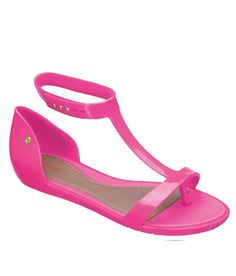 Eco-Friendly and Cruelty-Free Melissa Optical Vegan Sandals in Pink