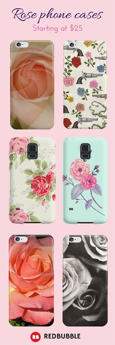 Protect the delicate rose that is your smartphone with one of these rose printed cases, starting at $25.