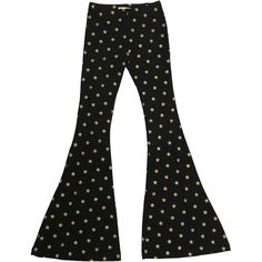 Glitterati Flare Pants (6.890 RUB) ❤ liked on Polyvore featuring pants, flare pants, flared trousers, flared pants and flare trousers