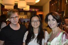 Lançamento das Porcelanas Schmidt, Claudia Matarazzo, ao lado dos Master Chef.