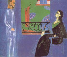 Matisse THE CONVERSATION  Hermitage, Saint Petersburg  177 x 217 cm.  1911