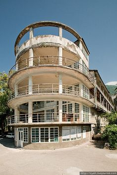 In the sub-tropical forests of what is now called Abkhazia, the old Russian resort Gagri lays mostly abandoned now.