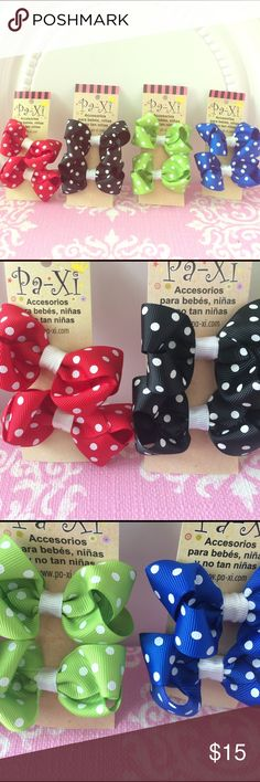 🎀 Perfect Match Bow clip set 8 bow clips (4 pairs) in beautiful often needed colors. Clip is easy to use and holds hair well while keeping the little ones comfortable! Also can be used for adults! If interested in customizing a bundle, please comment and I am happy to work with you 😊. Paxi Accessories Hair Accessories