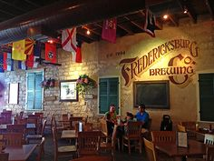 """Fredericksburg Brewing Company is the oldest brewpub in Texas! Twice proclaimed """"the Best Brewpub in Texas"""", by """"Texas Monthly"""", the """"Brewery"""" in Historic Fredericksburg is sure to tickle the fancy of the most discriminating BEER aficionados! LOVE❤"""