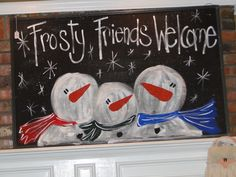 frosty friends- a chalkboard idea- home decor!